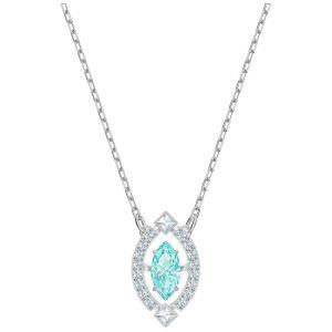 Swarovski Sparkling Dance Necklace, Blue, Rhodium Plating
