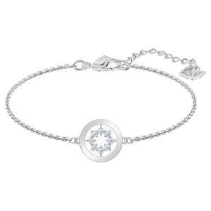 Swarovski Further Circle Bracelet, White, Rhodium Plating 5499003
