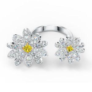 Swarovski Eternal Flower Open Ring - Rhodium Plating