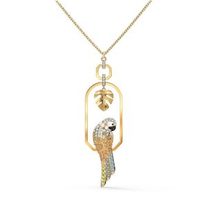 Swarovski Tropical Parrot Necklace - Gold-tone Plating