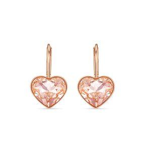 Swarovski Heart Bella Earrings - Rose Gold Plating - 5515192