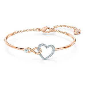 Swarovski Infinity Heart Bangle 5518869