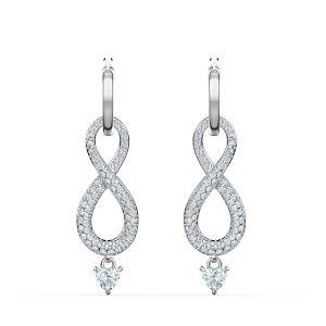Swarovski Swan Infinity Pierced Earrings - 5520578