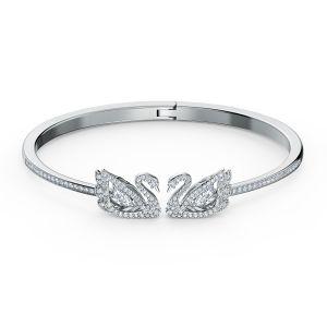 Swarovski Swan Bangle - White - Rhodium Plating - 5520713