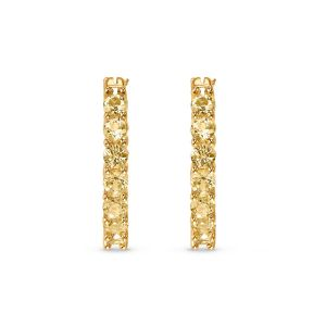 Swarovski Vittore Hoop Pierceed Earrings - Gold-Tone Plated