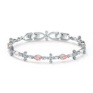 Swarovski Perfection Bracelet - Pink - Rhodium Plating - 5524544