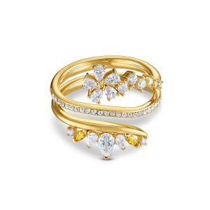 Swarovski Botanical Wrap Ring - Gold-tone Plating