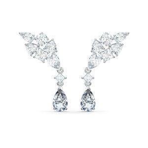 Swarovski Tennis Deluxe Cluster Pierced Earrings 5562086