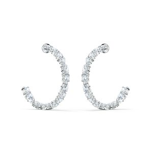 Swarovski Tennis Deluxe Hoop Earrings 5562128