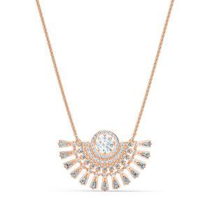Swarovski Sparkling Dance Dial Up Necklace - Rose Gold Plating 5578116
