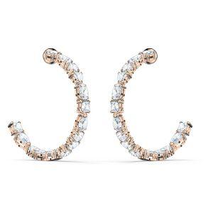 Swarovski Tennis Deluxe Hoop Earrings - Rose Gold Plated 5585438