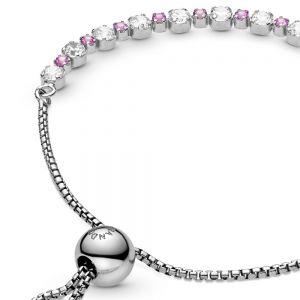 Pink & Clear Sparkle Slider Bracelet-590517c02-23, 590517c02-25