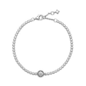 Pandora Sparkling Halo Tennis Bracelet 599416C01