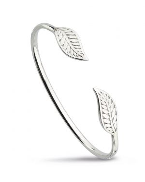 Kit Heath Blossom Eden Twin Leaf Bangle