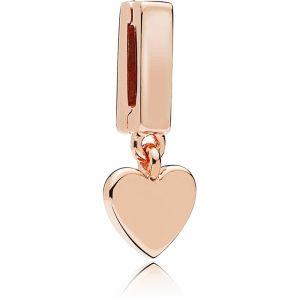 Pandora Reflexions Heart Dangle Clip Charm - Rose Gold 787643