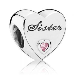 Pandora Sister Heart Charm 791946PCZ