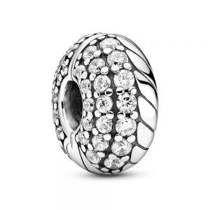 Pandora Pavé Snake Chain Pattern Clip Charm 799089c01