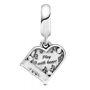 Pandora Grand Piano Heart Dangle Charm 799101C01