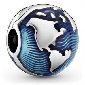 Pandora Blue Globe Clip Charm 799429C01