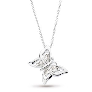 Kit Heath Blossom Flyte Butterfly White Topaz Necklace 90352WT