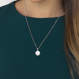 Kit Heath Coast Facet Round Silver Necklace
