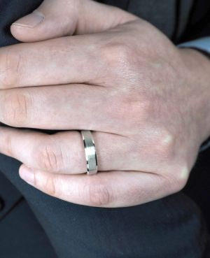 Brown & Newirth 'Blend' Wedding Band, For Him