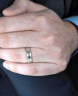 Brown & Newirth 'Atom' Wedding Band, For Him