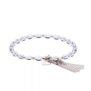 Annie Haak Rock Crystal Tassel Bracelet
