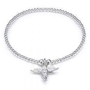 Annie Haak Santeenie Silver My Guardian Angel Charm Bracelet