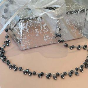 Annie Haak Tempest Silver Necklace - Hematite N0570PR