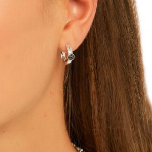 Annie Haak Cosmic Silver Hoop Earrings E0296PR