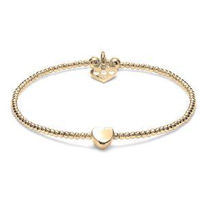 Annie Haak Dainty Boxed Heart Gold Bracelet B2060-17