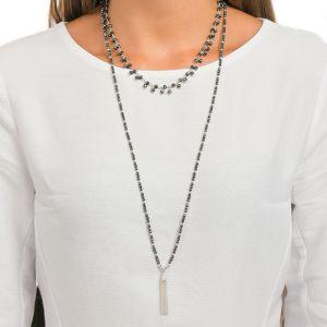 Annie Haak Eclipse Silver Necklace - Hematite N0568