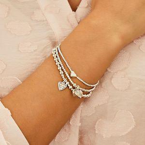 Annie Haak Mini Orchid Silver Charm Bracelet - Laughter Love Life