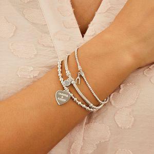 Pipa Boxed Heart Silver Charm Bracelet B2087