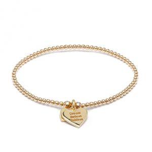 Annie Haak Santeenie Gold Charm Bracelet - Dream, Believe, Achieve B2048-17