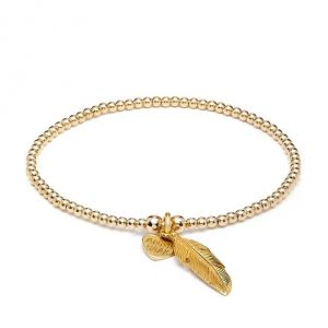 Annie Haak Santeenie Gold Charm Bracelet - Feather