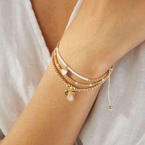 Annie Haak Santeenie Moonstone Teardrop Gold Charm Bracelet B2050-17, B2050-19