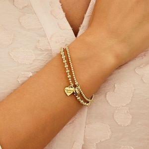 Annie Haak Santeenie Gold Charm Bracelet - Solid Heart