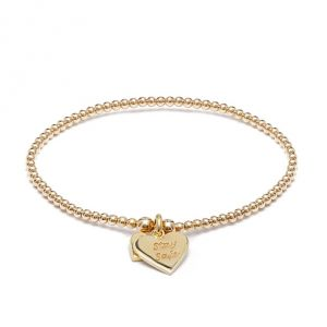 Annie Haak Santeenie Gold Charm Bracelet - Stay Safe B3051-17