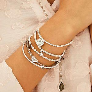Annie Haak Santeenie Silver Charm Bracelet - Flower of Life