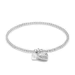 Annie Haak Santeenie Silver Charm Bracelet - Lined Heart