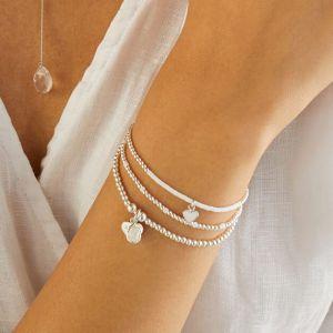 Annie Haak Santeenie Silver Charm Bracelet - Moonstone Teardrop