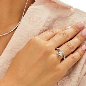 Annie Haak Santeenie Silver Charm Ring - Solid Heart