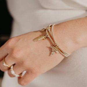 Annie Haak Santeenie Gold Open Star Charm Bracelet B0940 17, B0940 19