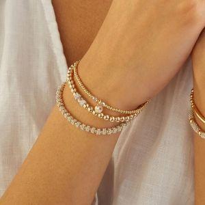 Annie Haak Seri Gold with Crystal Bead