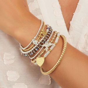 Annie Haak Seri Smoked Topaz Silver Bracelet B2163-17