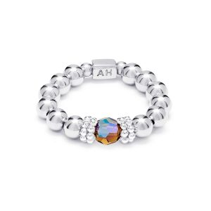 Annie Haak Seri Smoked Topaz Silver Ring R0328