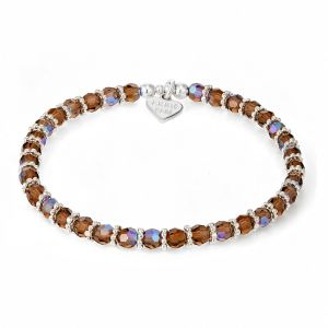 Annie Haak Shimmer Silver Bracelet - Smoked Topaz B2168-17