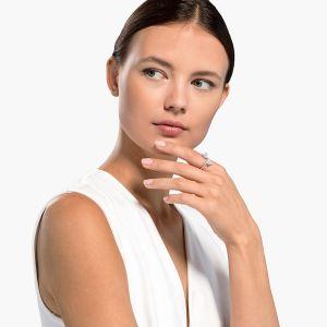 Swarovski Attract Soul Heart Ring - Rhodium Plating
